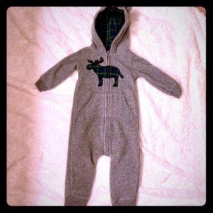 Carters fleece 9 month zip hoodie with ears!